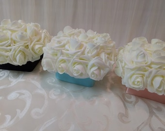 Box of Roses Table Centerpiece