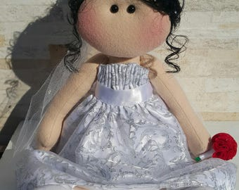 Bride in felt/Noiva em feltro