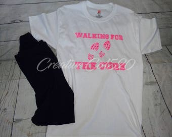 Walking for the Cure Shirt | Breast Cancer Awareness | Breast Cancer Shirt | Breast Cancer I Breast Cancer Tshirt | Awareness