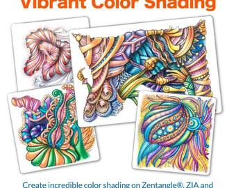 3D Tangle Vibrant Color Shading - Download PDF Tutorial Ebook