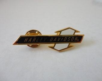VINTAGE 1990s HARLEY davidson lapel jacket vest PIN