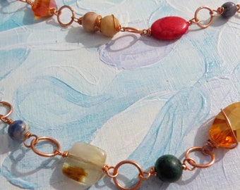 Copper beaded necklace #3 of 3