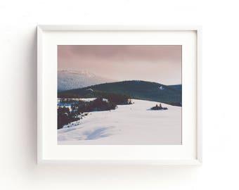 "landscape photography, landscape wall art, landscape art prints, large art, large wall art, mountain landscape, art prints - ""Rose Gold Sky"""