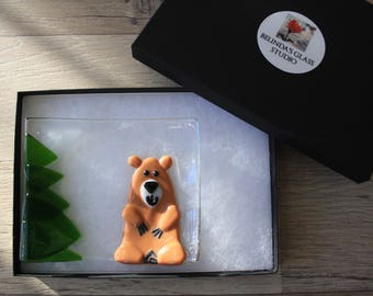 Soap Dish / Spoon Rest - Bear in the Woods