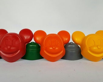 Mickey Mouse Crayons- Set of 5 - Coloring - Party Favors - Goody Bags - Kids Party - Birthday Gift
