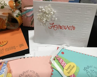 Handmade Greeting Cards Made to Order, Package Bows