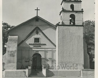 San Buenaventura Mission antique photo California