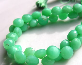 Chrysoprase Faceted 8-9mm Onion Briolettes 4