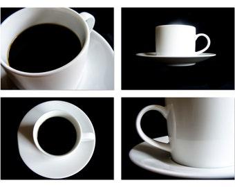Coffee Photography, Kitchen Art, Set of 4 Prints, Kitchen Photography, Cafe Photography, Restaurant, Coffee Shop Art, Gift Ideas