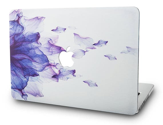 "2017 & 2016 Mac Book Pro 13"" With/Without Touch Bar A1706/A1708 Graphics Plastic Hard Shell Case Cover With Apple Logo Cut Out   Ombre Purple by Etsy"