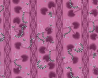 Lemur Forest - Orchid from Lagoon by Rashida Coleman-Hale for Cotton + Steel