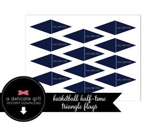Basketball Triangle Cupcake/Straw