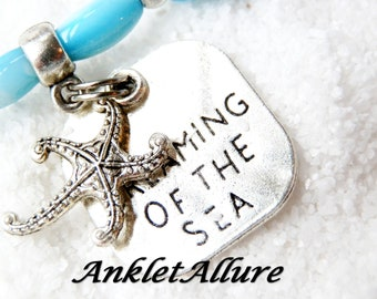 Cruise Anklet Dreaming of the Sea Starfish Ankle Bracelet Blue Shell Anklets for Women