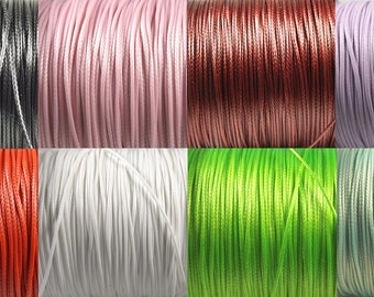 Waxed cord 0.5 mm braided cord, polyester, choose colors, jewelry making, 5 m 5 m of yarn skein