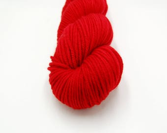 Merino Worsted Hand Dyed Yarn - Maraschino