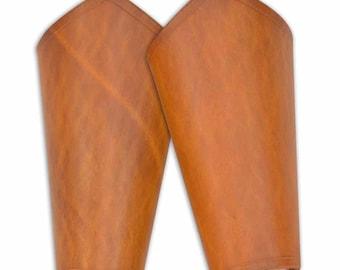 Plain Leather Arm Bracers - Medieval Leather Bracers - Leather Vambraces - #DK6006
