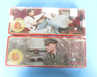 Elvis Presley  - Tin Can - Russell  Stover  - Candy container - lot of 2