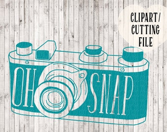 oh snap camera svg, svg cutting file, silhouette cameo, silhouette svg file, vinyl decal svg, camera drawing, camera clipart, png clipart