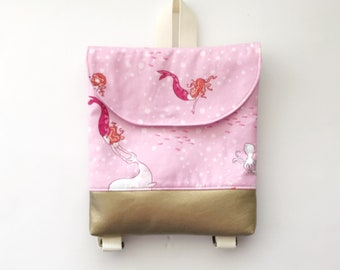 Mermaid Tiny Pack - Small Backpack - Toddler Backpack - Tiny Backpack - Toddler Bag - Backpack - Toddler Purse