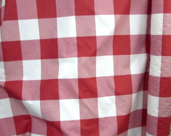 BUFFALO CHECK in red designer,drapery/bedding/upholstery fabric