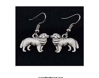 Bernese Mountain Dog Charm Earrings
