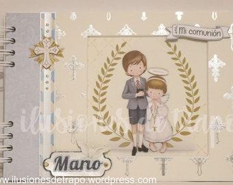Album and Book of Signatures First Communion child