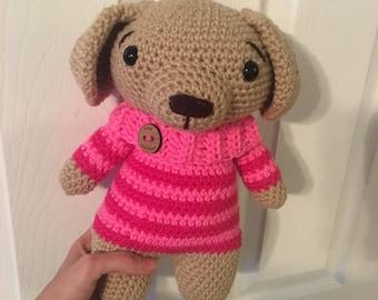 Crochet Puppy in a Sweater