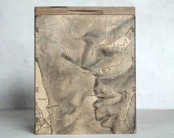 Map Box - Helvellyn - OS Map Storage - Engraved Map Box - Storage Box for Maps