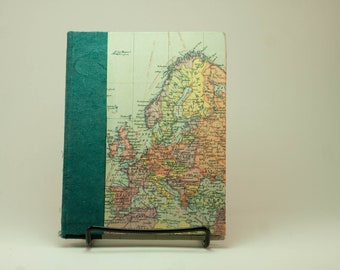 Map of Europe and Africa with Blue Accent - Sketchbook & Art Journal