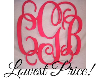 Wooden Monogram SALE!!! Ships in 3 days - Large wood monogram at the best prices!