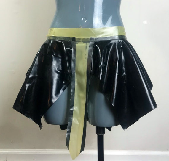 Egyptian latex flare skirt