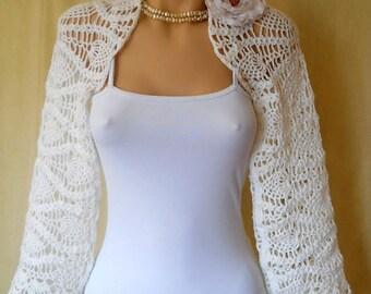 LIQUIDATION Stock 30% OFF Bridal Shrug Bolero Wedding Bridesmaid Accessories Hand Knitted Crochet Elegant Jacket Cardigan Women Capelet