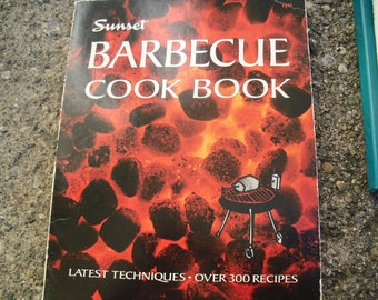 Vintage Book Sunset Barbecue Cook Book