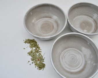 Set of 3 Handmade Rustic Ceramic Pottery Cereal Serving Mixing Stacking Nesting Bowls Set Stoneware Organization Kitchen Decor-READY TO SHIP