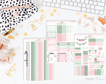 Cozy Christmas HORIZONTAL Weekly Kit // 130+ Matte Planner Stickers // Perfect for your Erin Condren Life Planner // WKH0880