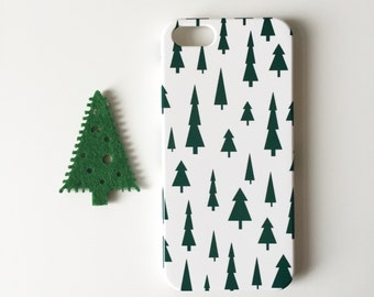 Christmas phone case / iPhone X / iPhone 8 / pines iPhone 7 / 7 Plus / festive iPhone Se case / iPhone 6S / iPhone 6 / iPhone 5S / iPhone 5