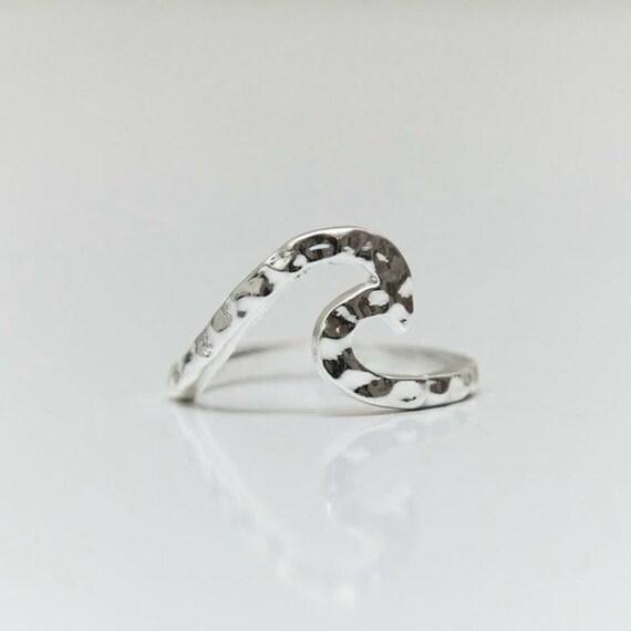 Wave Ring - Sterling Silver -DD CUSTOM JEWELRY - handmade - sea lover- fashionable - unisex - beach life