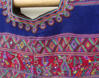 Maya Textile from Guatemala | Vintage Huipil Blouse from Nebaj | Ethnic Clothing