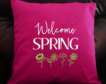 Spring Pillow Cover, Spring Home Decor, Spring Pillows, Spring Throw Pillows, Throw Pillow Covers, Decorative Pillow Covers