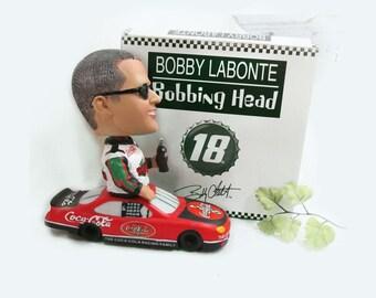 bobble head - Coca Cola memorabilia - Nascar memorabilia - Bobby Labonte - bobble head, gift for a race fan  - #4