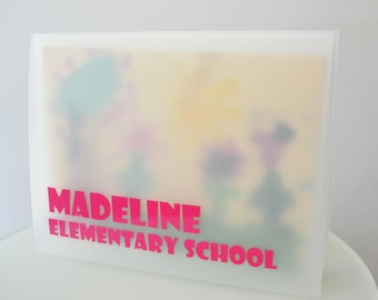 "Showcase Design 13""x19"" Personalized Portfolio to organize kids art and paperwork"