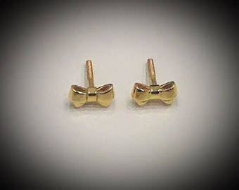 Bow gold earrings