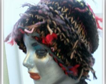 HAT WOMANS KNITTED Slouch Beanie Head Warmer Head Topper Womens Hat