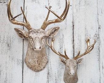 Antique Deer Head~Large Deer Head~Animal Head~ Nursery Decor