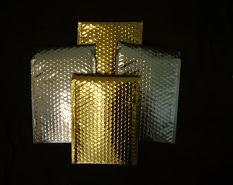 Bubble Mailer 10 Gold & Silver Metallic 6x9 Self Seal Adhesive Envelopes Protective Padded Shipping Supply Mailer Paper Sturdy Lightweight