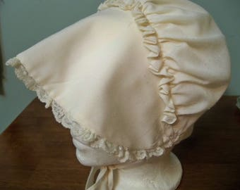 DOLLYWOOD   cotton prairie adult child  bonnet rare