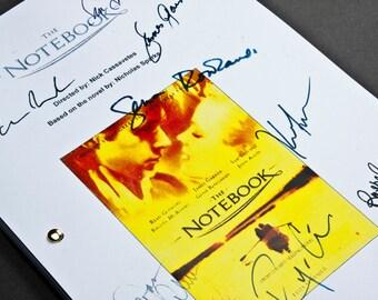 The Notebook Film Movie Script with Signatures / Autographs Reprint Unique Gift