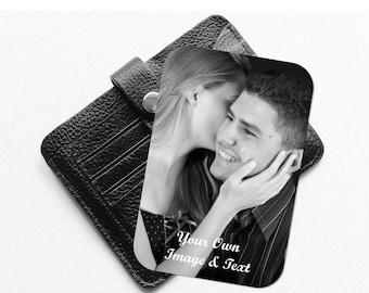 Personalised Bespoke Wallet Insert Card. Personalise with Your Own Image & Message