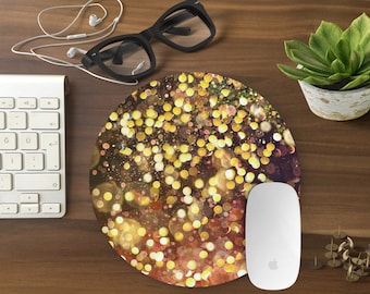 Mouse Pad, Glitter Mousepad, Mouse Mat Marble print GOLD Mouse Pad Office Mousemat Rectangular Mousemat Mousepad design mouse pad-T80610