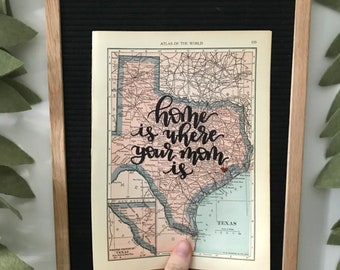 1931 Mini State Maps | customized state map | hand lettered map | calligraphy map